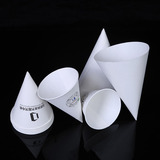 Disposable rolled paper cone cup