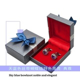Cufflink box with bowknot
