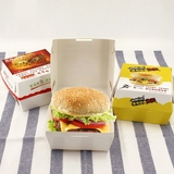 Custom print hamburger box